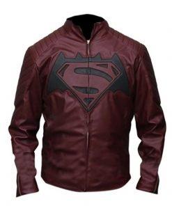 Batman-v-Superman Dawn of Justice Maroon Leather Jacket