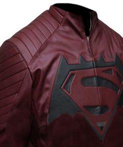 Batman-v-Superman Maroon Leather Jacket