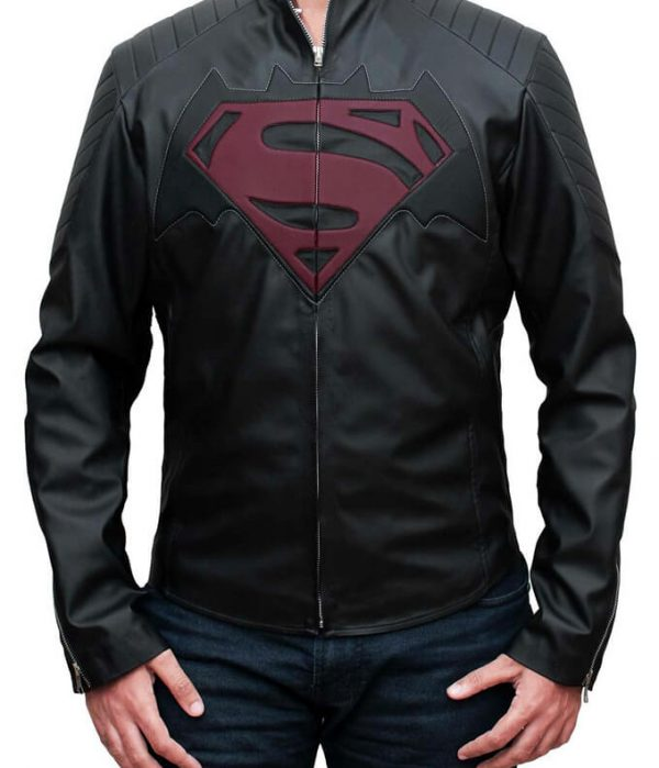 Batman-v-Superman Black Leather Jacket
