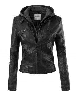 Design Olivia Black Womens Leather Jacket