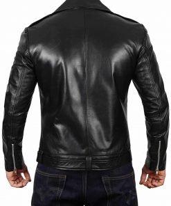 Black Darins Leather Jacket for Men