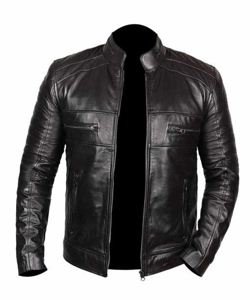 Black Genuine Leather Jacket for Men