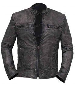 Black Lambskin Leather Jacket for Men