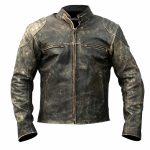 Mens Vintage Cafe Racer Distressed Leather Jacket
