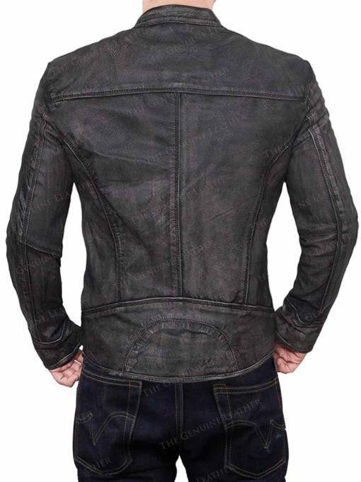 Black Party Lambskin Leather Jacket