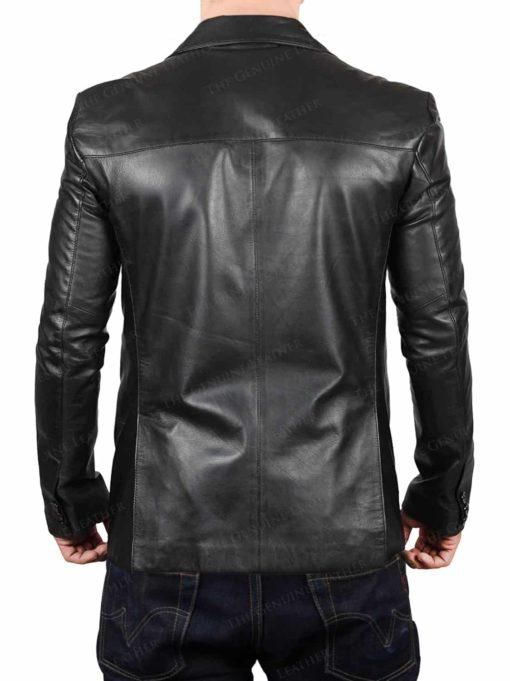 Black Cafe Leather Jacket