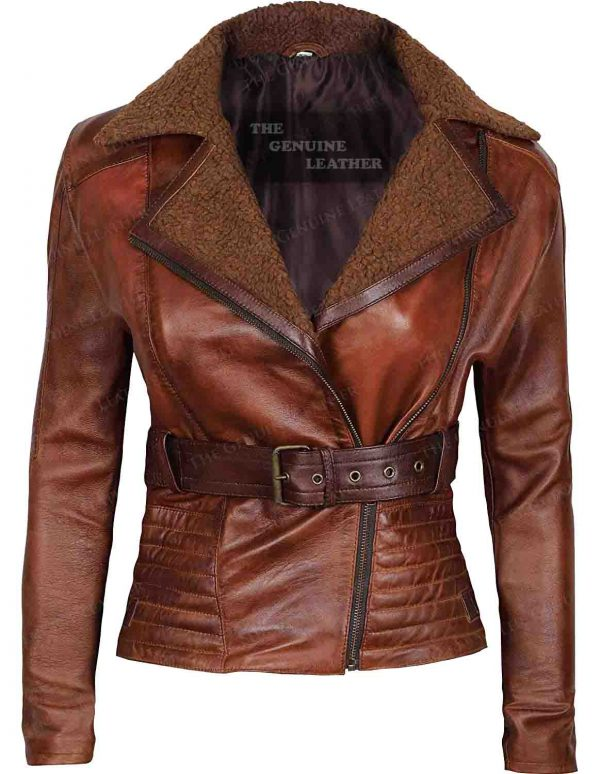 Blingsoul Asymmetrical Leather Jacket