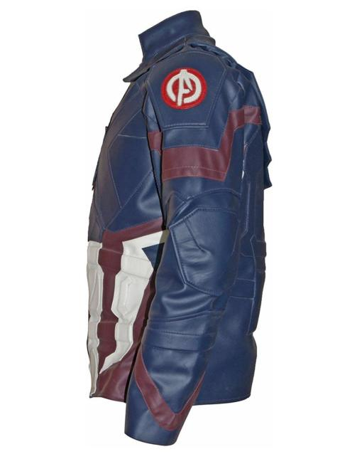 Civil War Chris Evans Leather Jacket