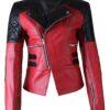 Damask Stylish Motorbike Womens Leather Jacket