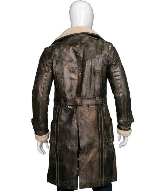 Elder Maxson Brotherhood Brown Leather Coat