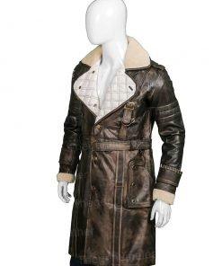 Elder Maxson Brotherhood Brown Leather Trench Coat