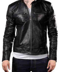 Men Motorcycle Leather Jacket