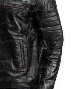 Mens Black Johnson Leather Jacket
