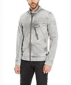 Tony Padilla 13 Reasons Why White Grey Mens Jacket