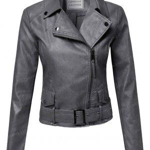 Casual Stylish Womens Motorcycle Leather Jacket