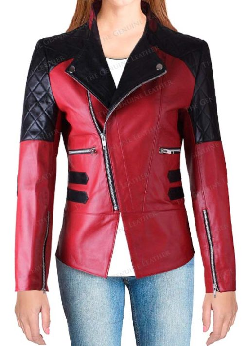Motor Bike Fashion Women Leather Jacket