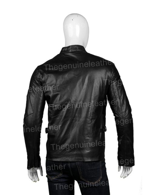 X-Men Cyclops Black Leather Jacket
