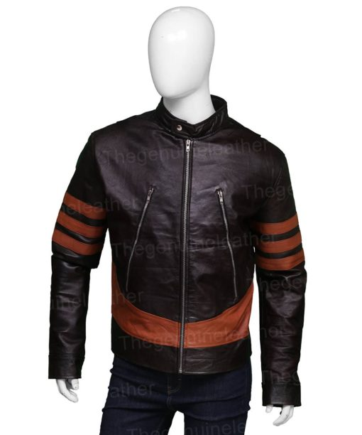 X-Men Wolverine Jackman Brown Leather Jacket