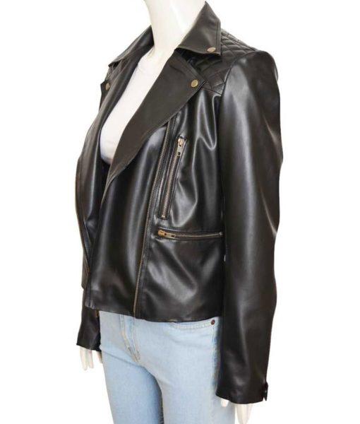 Chloe Decker Lucifer Women Biker Leather Jacket