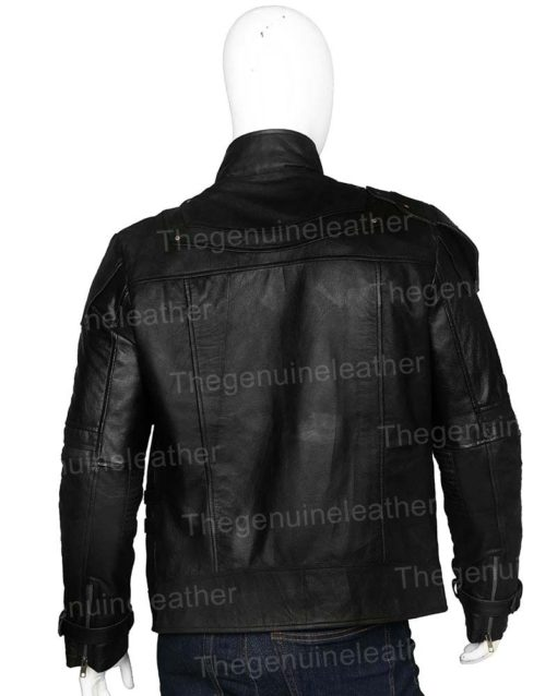 Guardian of the Galaxy Star-Lord Chris Pratt Black Leather Jacket