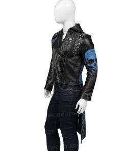 Hades Descendants 3 Black Leather Coat