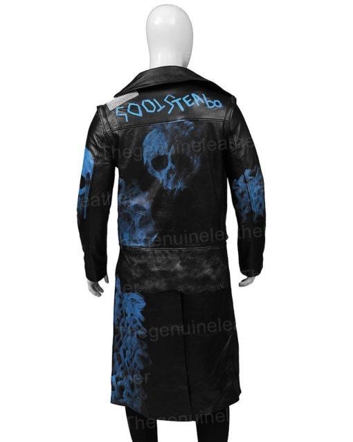 Hades Descendants 3 Studded Black Leather Coat