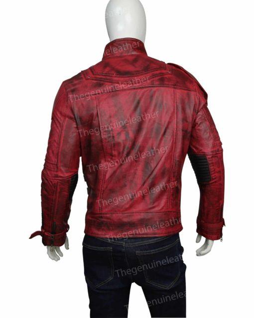 Star Lord 2 Chris Pratt Red Leather Jacket