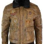 Aviator Mens Fur Bomber Jacket