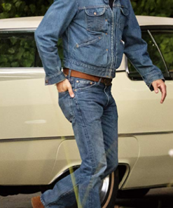 Brad Pitt Blue Denim Jacket