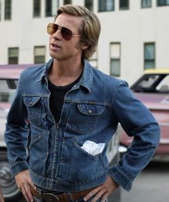 Brad Pitt Blue Jacket