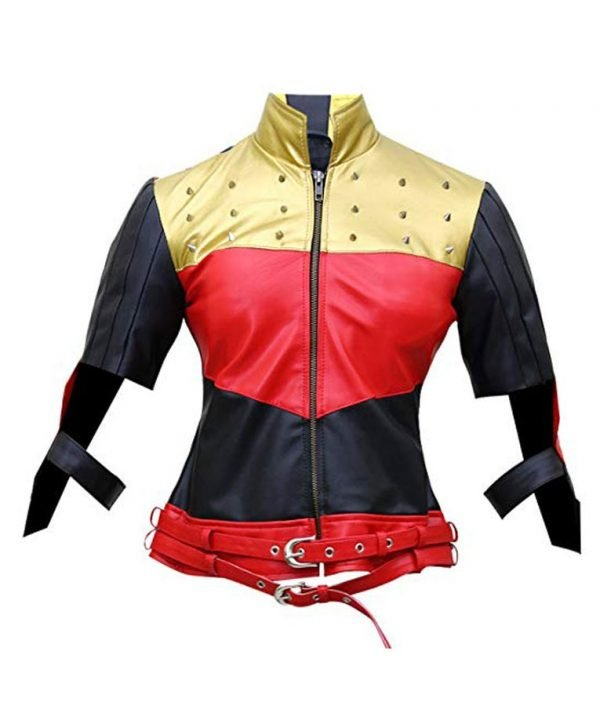 Injustice God Among Us Harley Quinn Leather Jacket