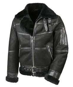 Mens Aviator B16 Sheepskin Shearling Jacket