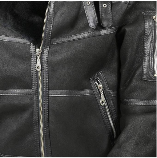 Mens Aviator B16 Sheepskin Shearling Leather Jacket