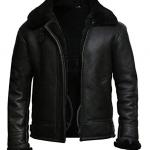 Mens Aviator B3 Shearling Sheepskin Leather Jacket