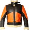 Mens B3 Aviator Shearling Sheepskin Orange Jacket