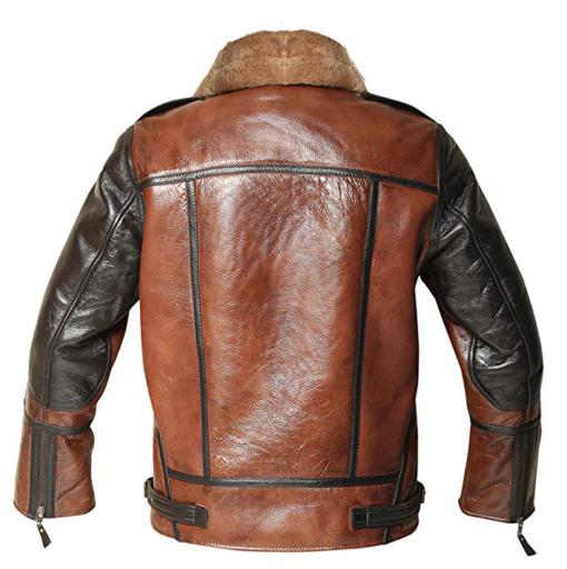 Men's B3 Distressed Shearling Aviator Jacket