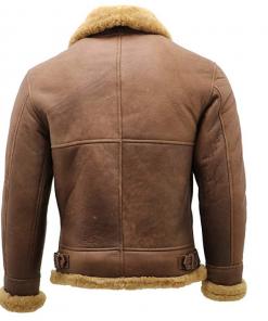 Men's Shearling Leather Flying Aviator Jacket