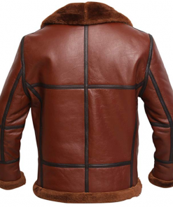 RAF British Shearling Aviator Leather Jacket