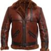 RAF British Shearling Flight Aviator Leather Jacket