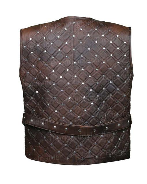 Vikings S03 Bjorn Lothbrok Brown Leather Vest