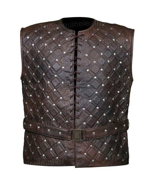 Vikings S03 Bjorn Lothbrok Leather Vest
