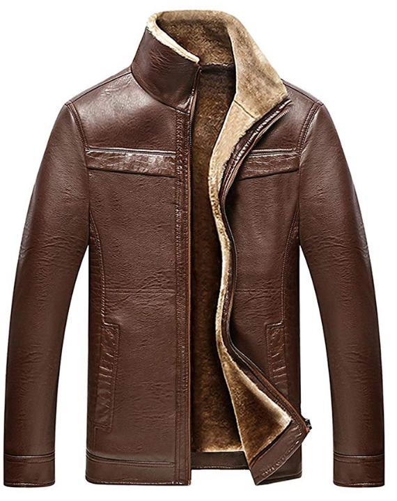 Brown Fur Leather Jacket