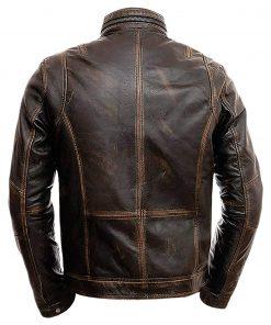 Cafe Racer Distressed Brown Jacket