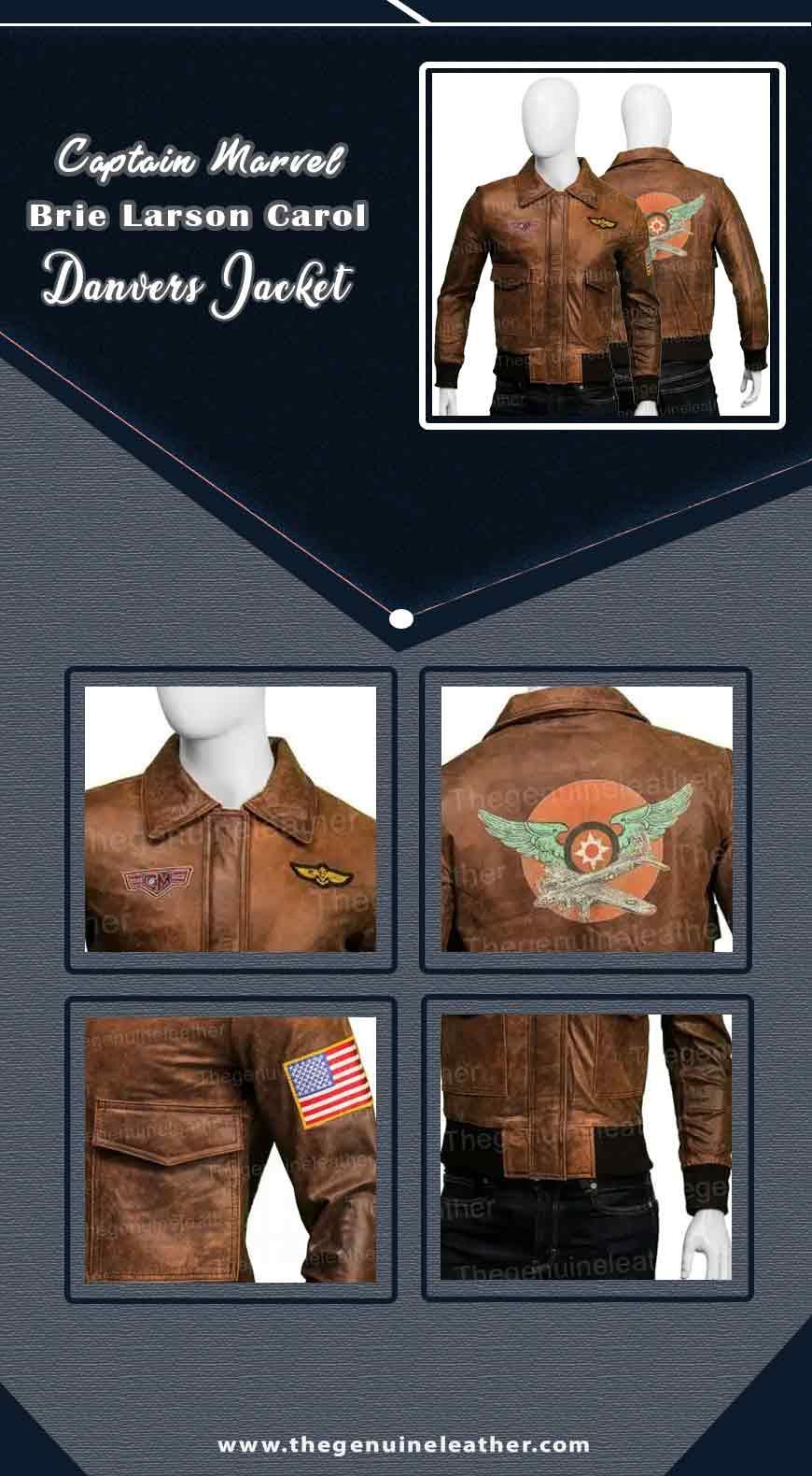 Captain Marvel Brie Larson Carol Danvers Jacket info