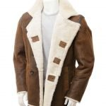 Charlie Mens Distressed Brown Coat