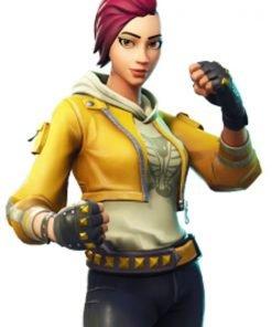 Fortnite Womens Yellow Gaming Jacket