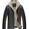 Lierdar Fur Faux Leather Jacket