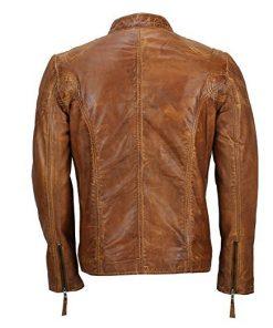 Mens Cafe Racer Biker Jacket