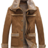 Mens Insulated Faux Leather Coat