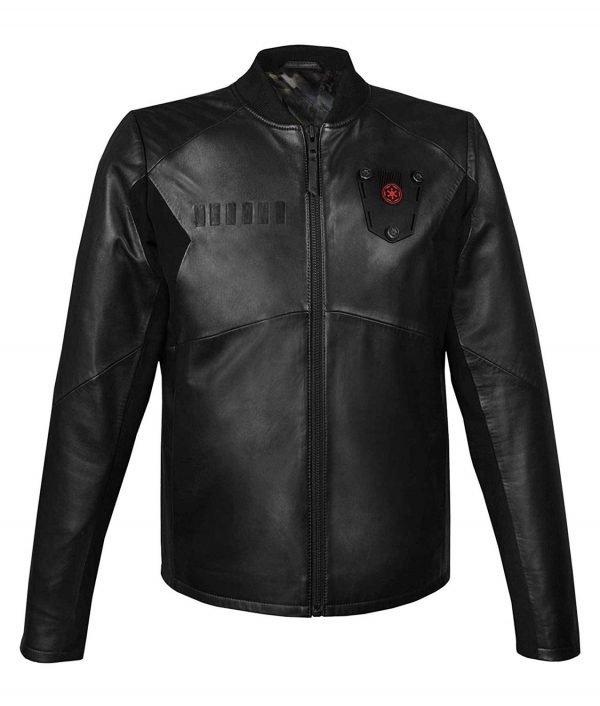 Star Wars Tie Fighter Pilot Black Leather Jacket